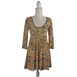 Free People Womens Velvet Burnout Floral Dress